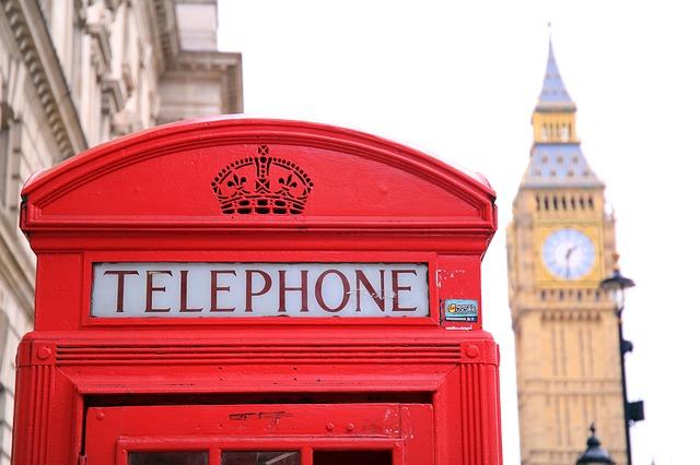 Cabine téléphonique rouge Londres Angleterre