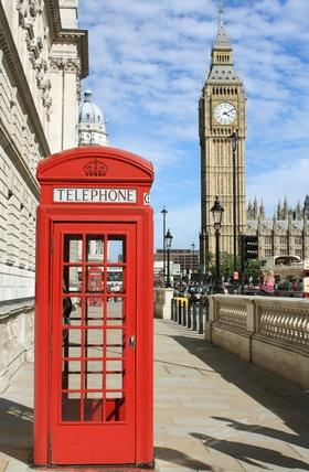 Cabine téléphonique et Big Ben Londres Angleterre
