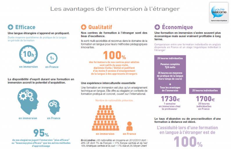 Infographie apprentissage linguistique hors de son pays