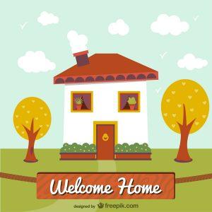 dessin d'une maison de famille d'accueil