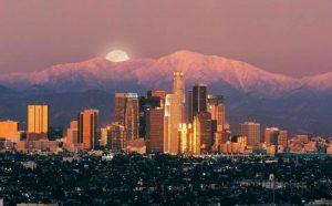 Vue de LA Los Angeles Californie USA