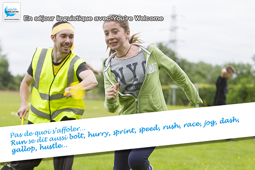 """Comment dit-on """"courir"""" en anglais ?"""