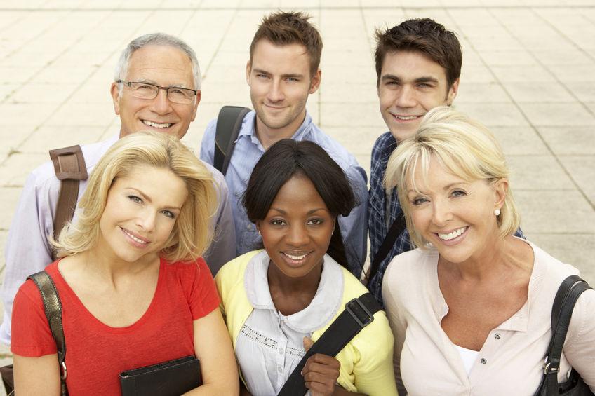 étudiants adultes salariés mixtes